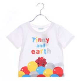 アースミュージックアンドエコロジー earth music&ecology TINNY ふうせんいっぱいTシャツ (Off White)