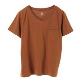 アースミュージックアンドエコロジー earth music&ecology ベーシックVネックTシャツ (Light Brown)