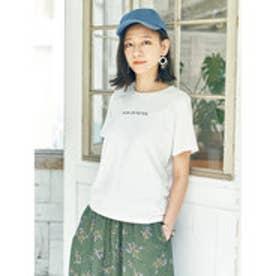 アースミュージックアンドエコロジー earth music&ecology ワンポイントロゴTシャツ (Off White)
