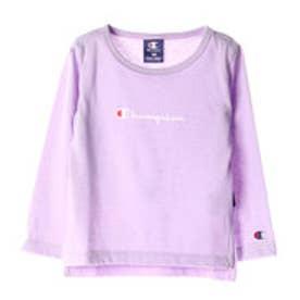 アースミュージックアンドエコロジー earth music&ecology Champion キッズ 長袖Tシャツ (Lavender)