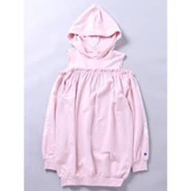 イーハイフンワールドギャラリー E hyphen world gallery F Champion オフショルロゴワンピース (Pink)