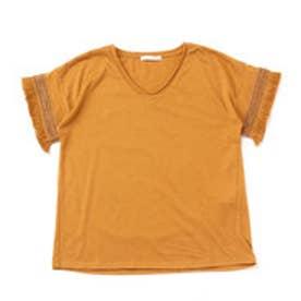 イーハイフンワールドギャラリー E hyphen world gallery フリンジVネックTシャツ (Mustard)