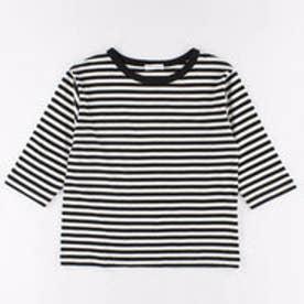 イーハイフンワールドギャラリー E hyphen world gallery ボーダー5S Tシャツ (Off White)