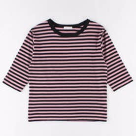イーハイフンワールドギャラリー E hyphen world gallery ボーダー5S Tシャツ (Pink)