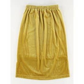 イーハイフンワールドギャラリー E hyphen world gallery ベロアストライプタイトスカート (Yellow)