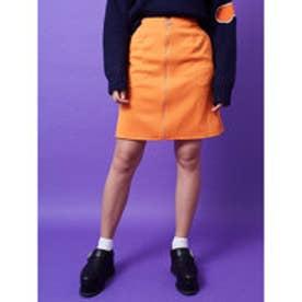 イーハイフンワールドギャラリー E hyphen world gallery M フロントZipスカート (Orange)