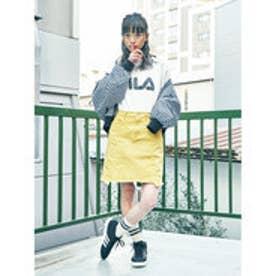 イーハイフンワールドギャラリー E hyphen world gallery カツラギ台形スカート (Yellow)
