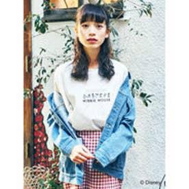 イーハイフンワールドギャラリー E hyphen world gallery MINNIE MOUSE Art Tシャツ (Off White)