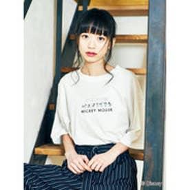 イーハイフンワールドギャラリー E hyphen world gallery MICKEY MOUSE Art Tシャツ (Off White)
