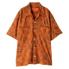 イーハイフンワールドギャラリー E hyphen world gallery UNIVERSAL OVERALL OPEN SHIRTS (Orange)