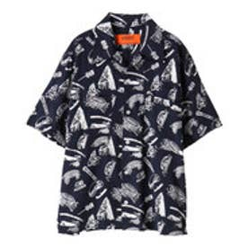 イーハイフンワールドギャラリー E hyphen world gallery UNIVERSAL OVERALL OPEN SHIRTS (Navy)