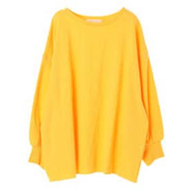 イーハイフンワールドギャラリー E hyphen world gallery ガーゼ裏毛ビックプルオーバー (Yellow)