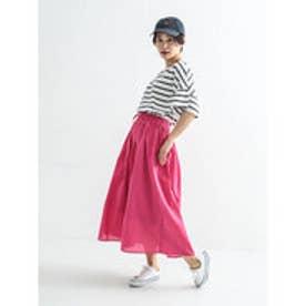 イーハイフンワールドギャラリー E hyphen world gallery コットンボイルカラースカート (Pink)