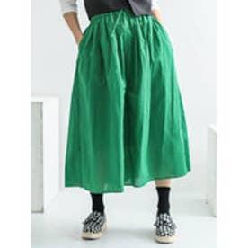 イーハイフンワールドギャラリー E hyphen world gallery コットンボイルカラースカート (Green)