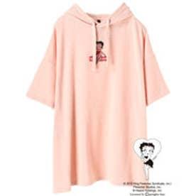 イーハイフンワールドギャラリー E hyphen world gallery Betty Boop SSビックパーカー (Pink)