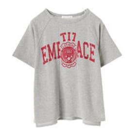 イーハイフンワールドギャラリー E hyphen world gallery リメイク風カレッジプリントTシャツ (Gray Mixture)