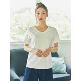 イーハイフンワールドギャラリー E hyphen world gallery VネックSSTシャツ (Off White)