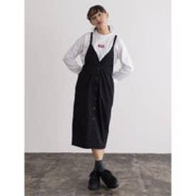 イーハイフンワールドギャラリー E hyphen world gallery フロントボタンジャンパースカート (Black)