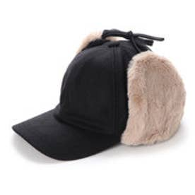 イーハイフンワールドギャラリー E hyphen world gallery Wool Fur Cap (Black)