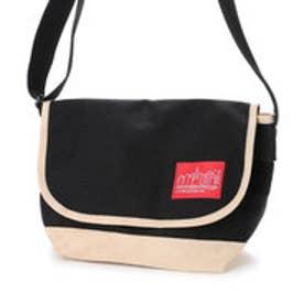 マンハッタンポーテージ Manhattan Portage Suede Fabric Casual Messenger Bag (Black)