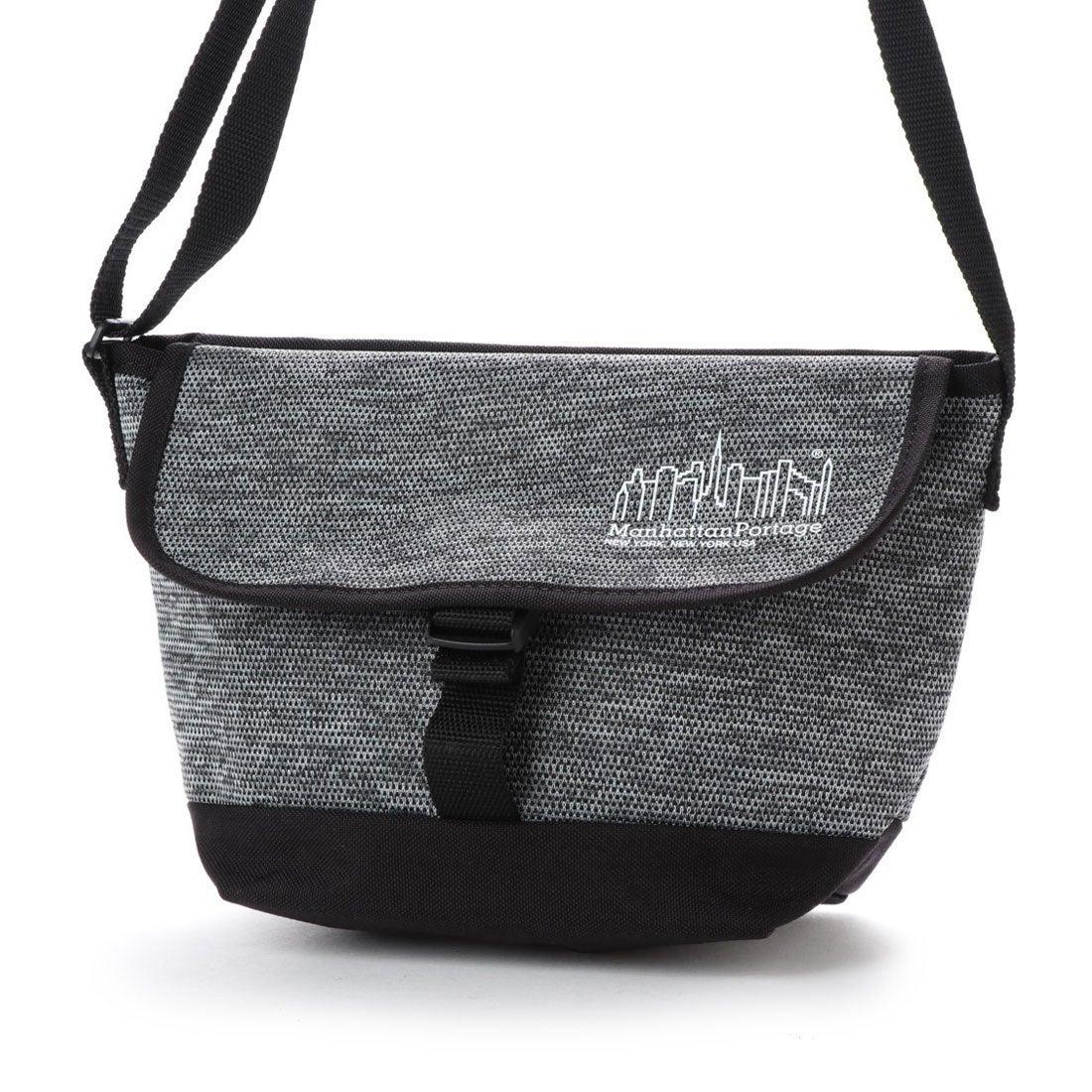 マンハッタンポーテージ Manhattan Portage SKYLINE AIR KNIT Casual Messenger Bag (Black) レディース メンズ