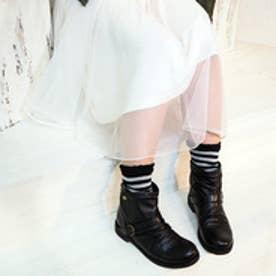 アシナガオジサン あしながおじさん カジュアルショートブーツ (ブラック)