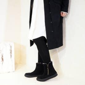 アシナガオジサン あしながおじさん メタルジップスニーカー (ブラック)