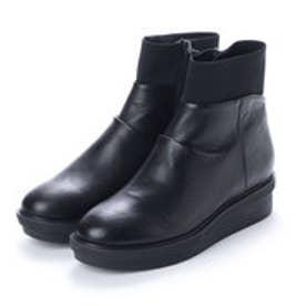 アシナガオジサン あしながおじさん ASHINAGAOJISAN 厚底ショートブーツ (ブラック)