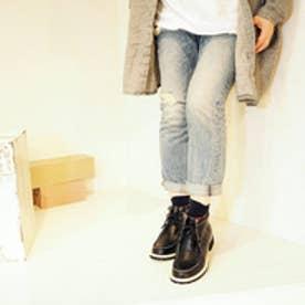 バイアシナガオジサン BY あしながおじさん カジュアルブーツ (ブラック)