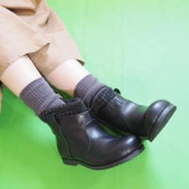 バイアシナガオジサン BY あしながおじさん ニット付きペコスブーツ (ブラック)