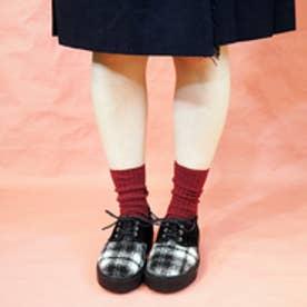 バイアシナガオジサン BY あしながおじさん 厚底スニーカー (ブラックコンビ)