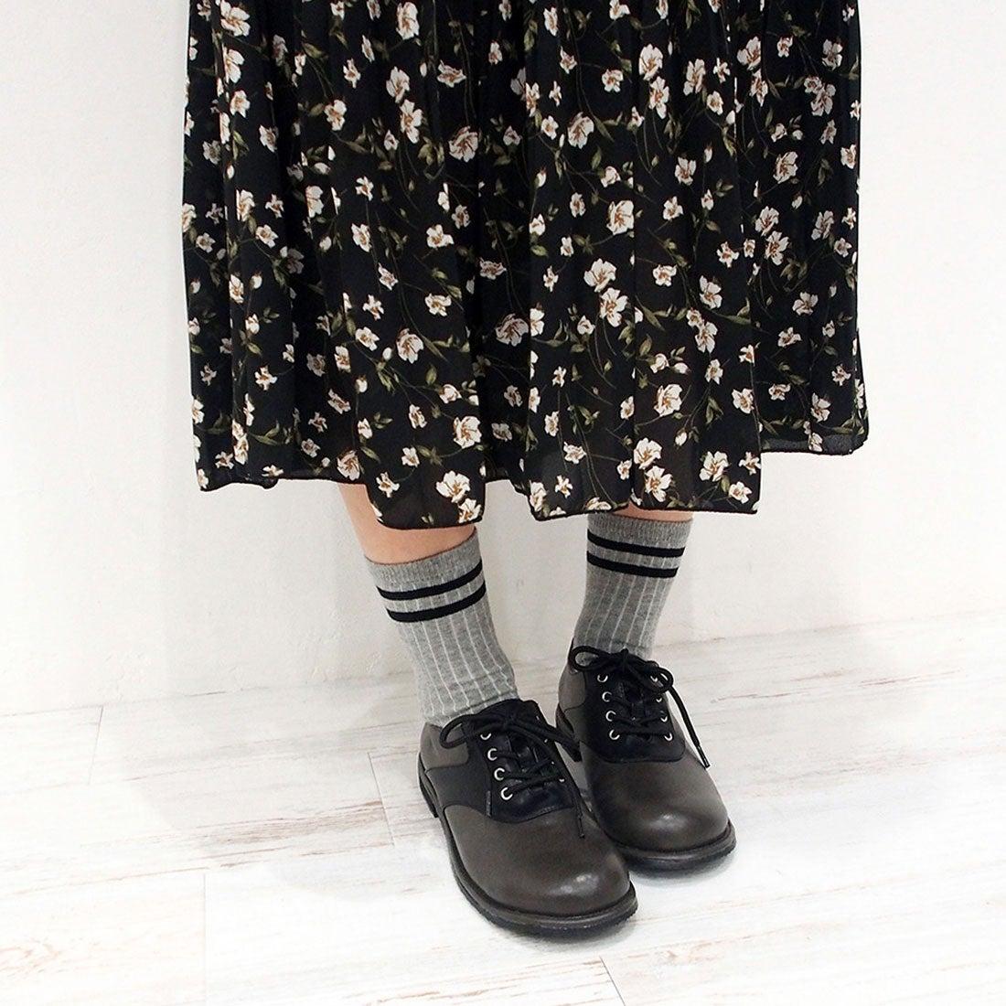 バイアシナガオジサン BY あしながおじさん 足が痛くならない靴!カジュアルレースアップシューズ (ブラック)
