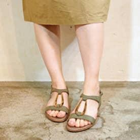 サヴァサヴァ cava cava リング金具付きフラットサンダル (カーキ)