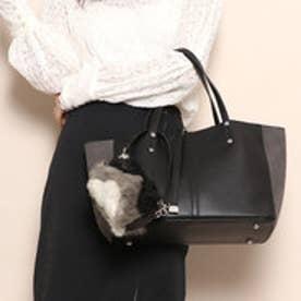 アルテミス バイ ダイアナ artemis by DIANA エコファーミニポーチ付きトートバッグ (黒合皮スムース)