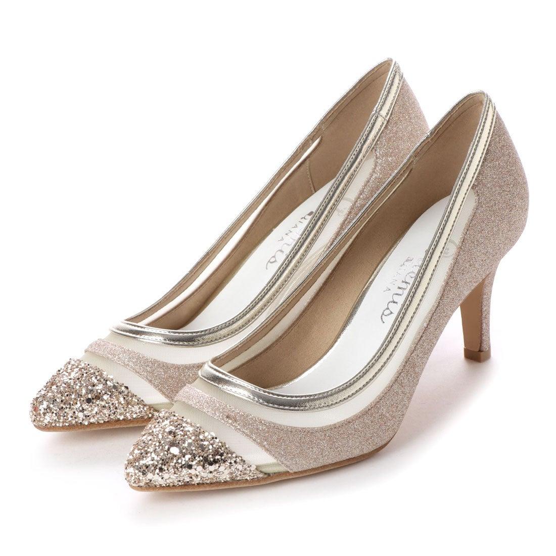 f58e489c45dc0 アルテミス バイ ダイアナ artemis by DIANA ラメグリッターチュールパンプス (ゴールドラメ) -靴&ファッション通販  ロコンド〜自宅で試着、気軽に返品