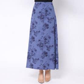 ダーマ コレクション DAMA collection フラワープリント ロングスカート (ブルー)