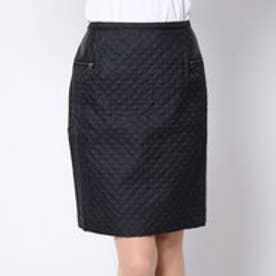 ディノス dinos キルティングタイトスカート (ブラック)