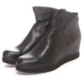 ウニサ UNISA バックファスナーショートブーツ (ブラック)