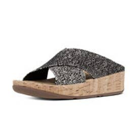 フィットフロップ fitflop KYS SLIDE (Black/ White Cirque)