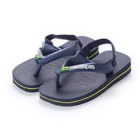 ハワイアナス havaianas NEW BABY BRASIL LOGO (navy blue/citrus yellow)