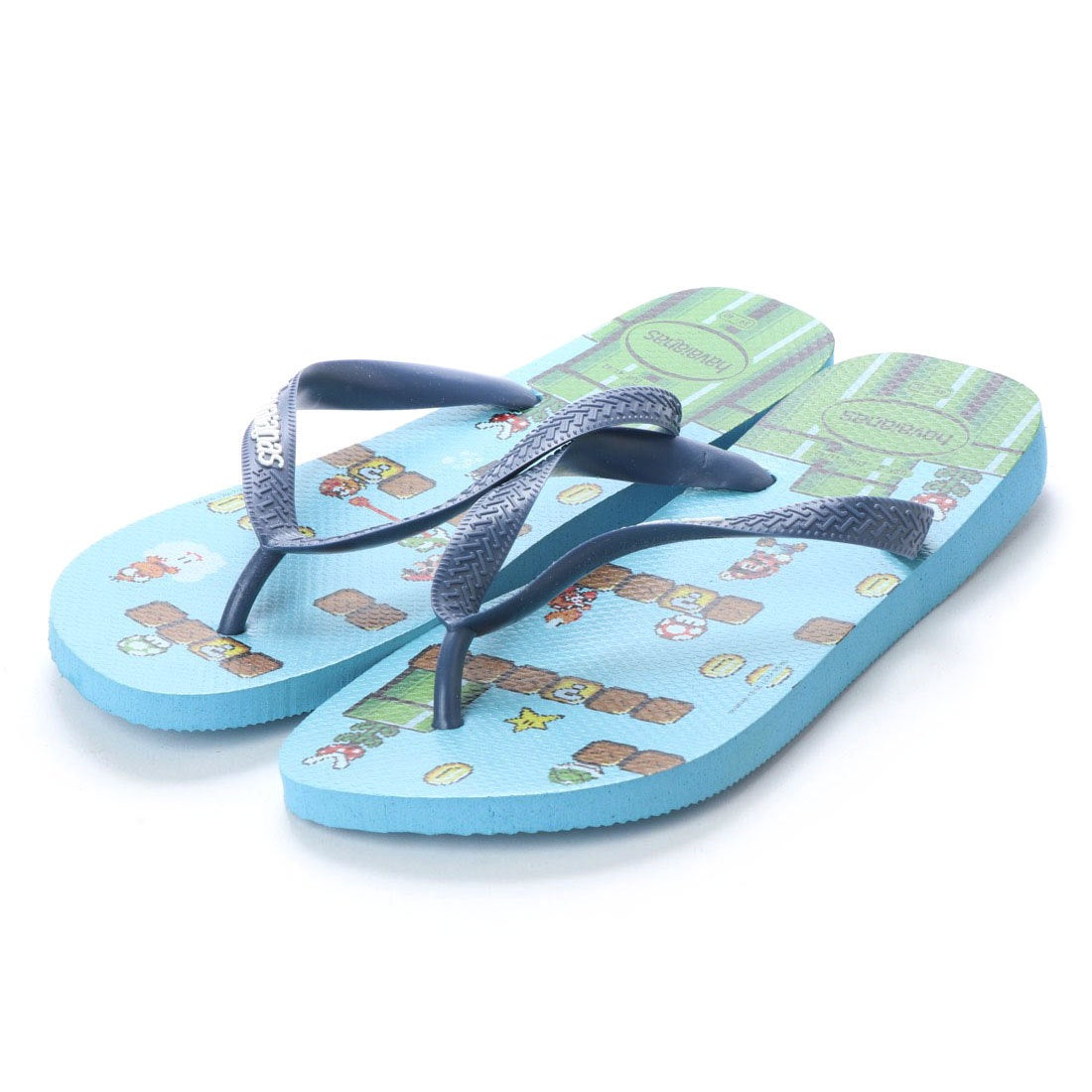ハワイアナス havaianas MARIO BROS (kids sizes) (blue splash)