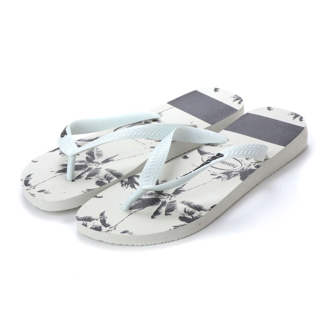 ハワイアナス havaianas TOP STRIPES LOGO (kids sizes) (white/black)