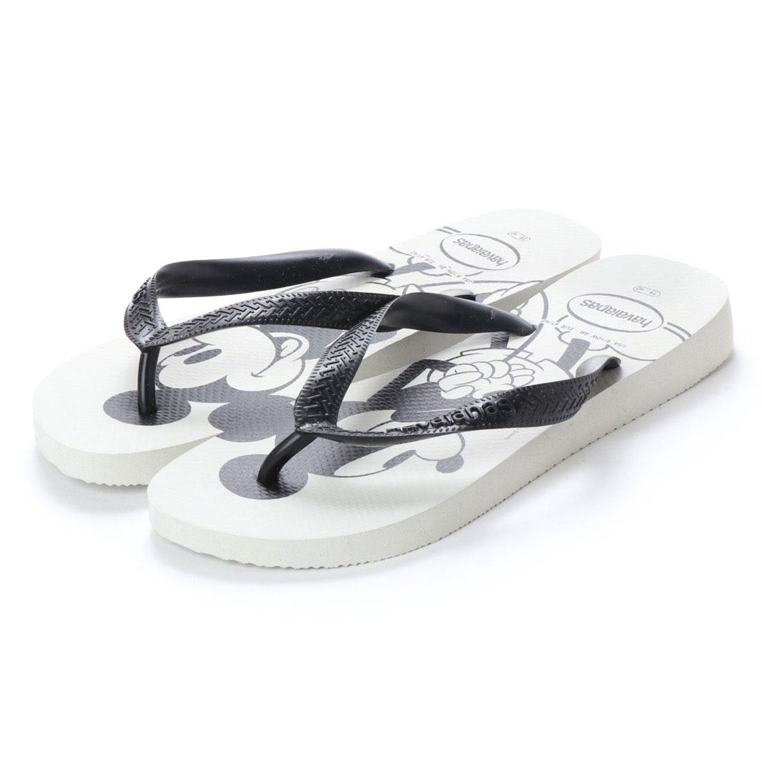 ハワイアナス havaianas TOP DISNEY (kids sizes) (white/black)