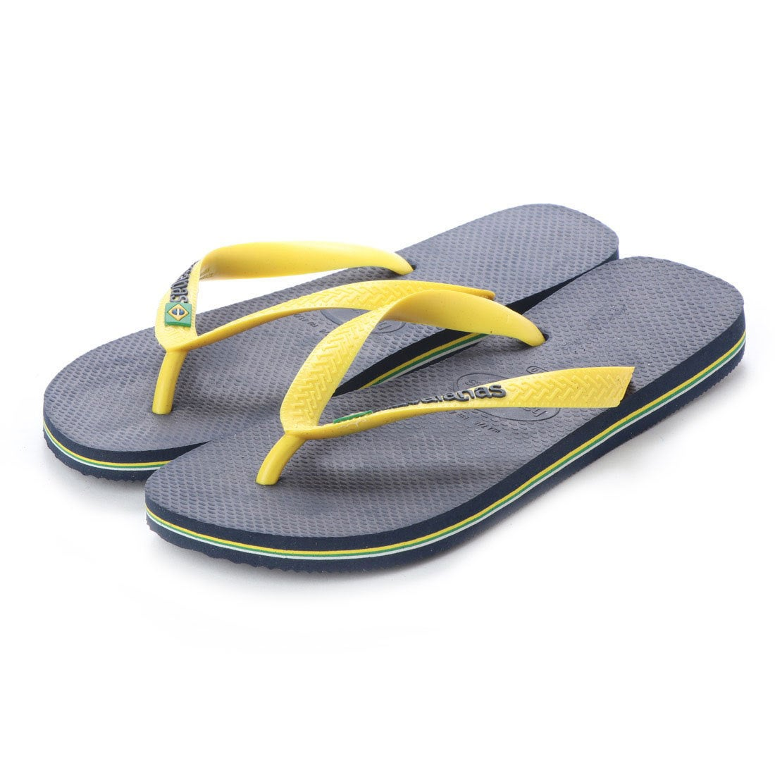 ハワイアナス havaianas BRASIL LOGO (kids sizes) (navy blue/citrus yellow)