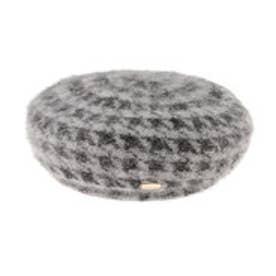 デュラス DURAS 千鳥アンゴラベレー帽 (グレー)