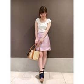 dazzlin グリッター台形スカート(ピンク)