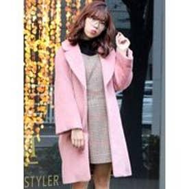 dazzlin シャギーミディアムコート(ピンク)