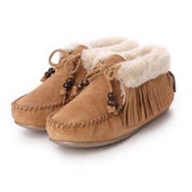 ミネトンカ Minne Tonka mi-fringe-slipper-bootie-40007 (CINNAMON)