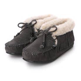 ミネトンカ Minne Tonka mi-fringe-slipper-bootie-40019 (GREY)