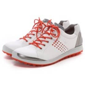 エコー ECCO MEN'S GOLF BIOM HYBRID 2(WHITE/FIRE)
